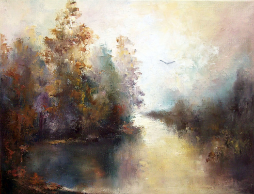 Elena Viktorovna Yudina. Solo over the quiet water
