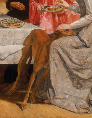 John Everett Millais. Lorenzo and Isabella. Fragment II