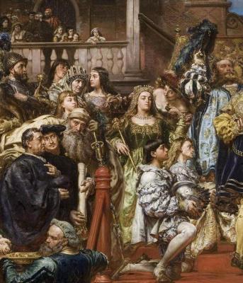 Jan Matejko. Oath of Prussia. Fragment