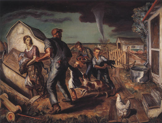 Джон Стюарт Карри. Торнадо в Канзасе