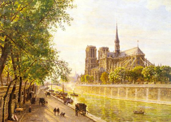 Francois Marie Fermin Gerard. De La Cité and Notre Dame Cathedral