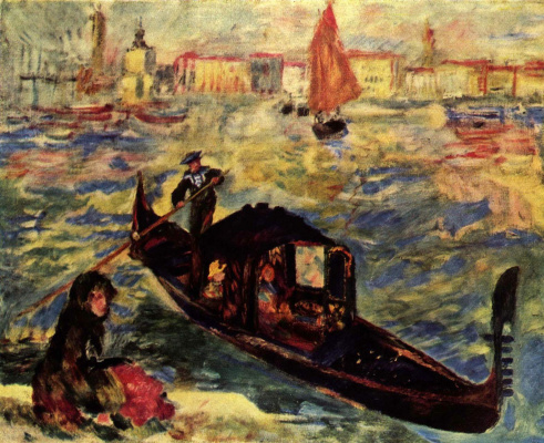 Pierre-Auguste Renoir. Gondola on the Grand canal in Venice