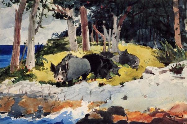 Winslow Homer. Bermudians