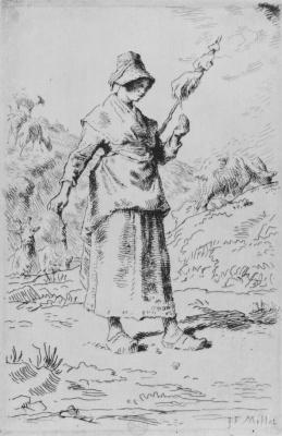 Jean-François Millet. Spin of Auvergne