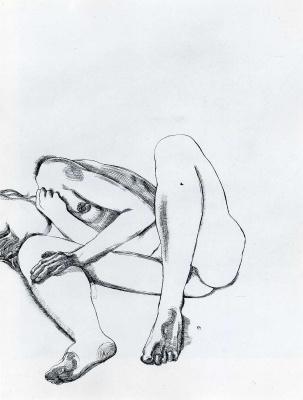 Lucien Freud. Girl's legs