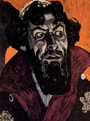 Alexander Yakovlevich Golovin. Portrait of Fyodor Chaliapin as Boris Godunov. Study for the painting