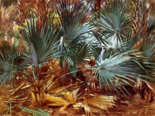 John Singer Sargent. Palm leaves
