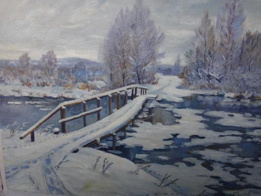Григорий и Валентина Крепачевы. Тропа  через  мост