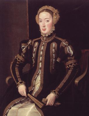 Antonis van Dashorst Mor. Portuguese Infanta Maria, Duchess of Visan, the daughter of king Manuel I