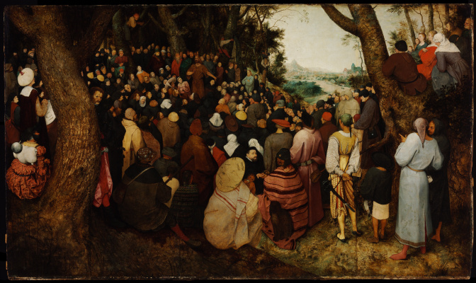 Pieter Bruegel The Elder. Sermon of St. John the Baptist