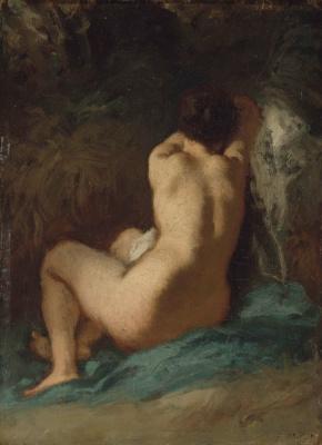 Jean-François Millet. Seated nude