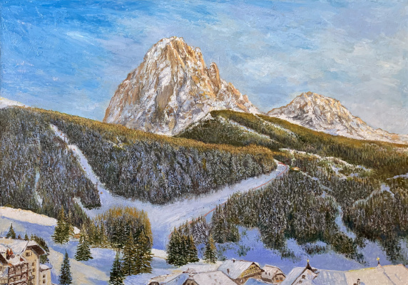 Albert Safiullin. Mountain landscape in the Dolomites