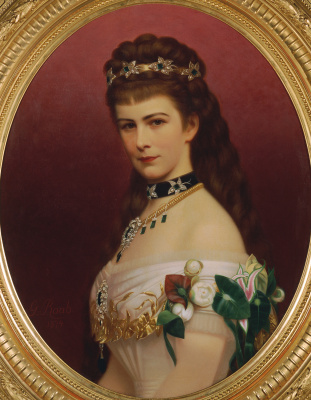 Georg Martin Ignaz Raab. Portrait of Empress Elizabeth of Austria