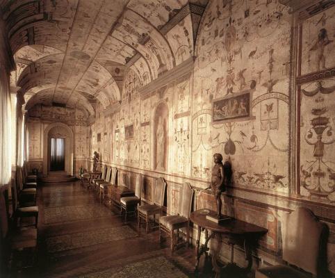 Рафаэль Санти. Лоджия кардинала Бибиена, фрески лоджии третьего этажа дворца понтифика в Ватикане
