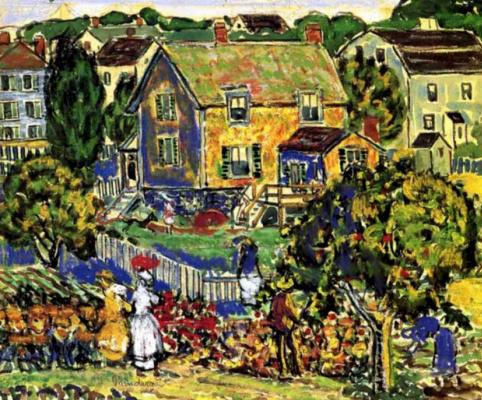 Maurice Braziel Prendergast. A village in New England