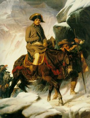 Поль Деларош. Наполеон проходит через Альпы
