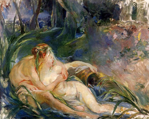 Berthe Morisot. Two nymphs embracing