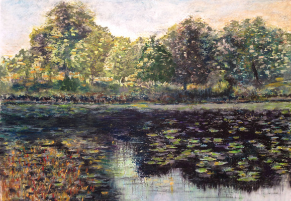 Albert Safiullin. Overgrown pond in the forest
