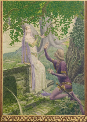 """Carlos Schwabe. Illustration for the plays of Maurice Maeterlinck's """"Pelleas and Melisande"""" 1892"""