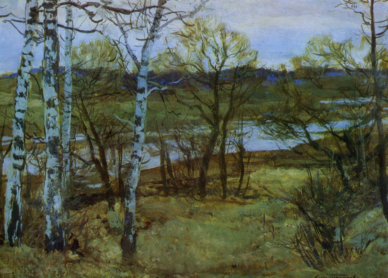 Sergey Vasilyevich Gerasimov. Early april