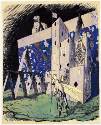 "Георгий Иванович Нарбут. Illustration for a collection of fairy tales by H. H. Andersen. ""House of cards"""