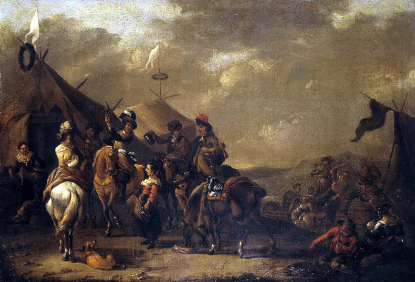 Симон Иоханнес ван Даув. Привал охотников