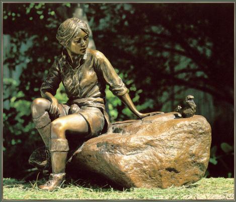 Гленна Гудакр. Девушка на скале
