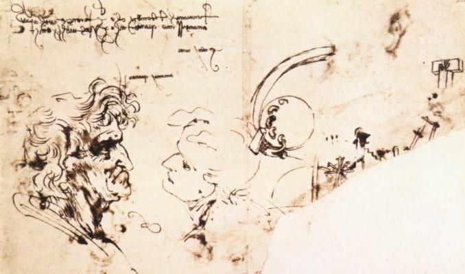 Leonardo da Vinci. Page outline