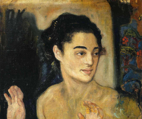 Oskar Kokoschka. Girl with arms raised