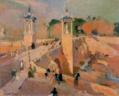 Joaquín Sorolla. The present bridge