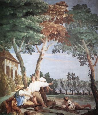 Giovanni Domenico Tiepolo. The rest of the peasants