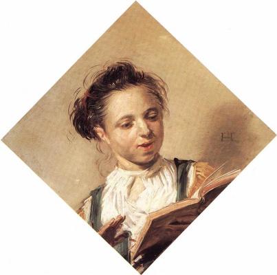 Frans Hals. Singing girl