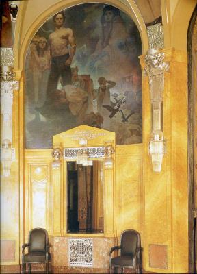Альфонс Муха. Фрески в интерьере Муниципального дома