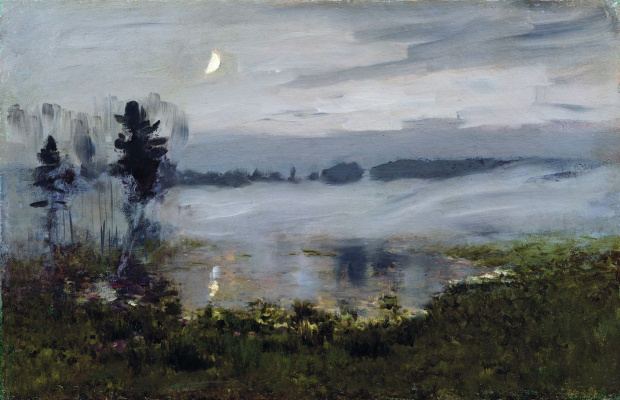 Isaac Levitan. The mist over the water