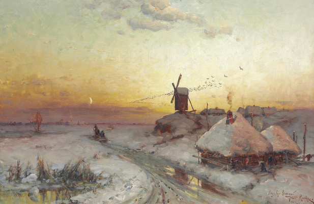 Julius Klever. Sunset