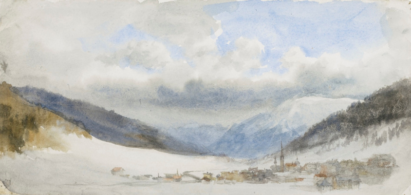 John Ruskin. Winter in the Swiss Alps