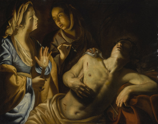 Artemisia Gentileschi. Saint Sebastian Tended by Irene