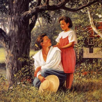 Эммануэль Гарант. Мать с дочкой