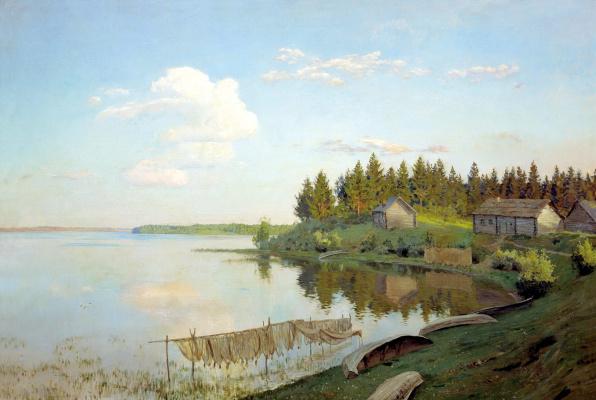 Исаак Ильич Левитан. На озере (Тверская губерния)