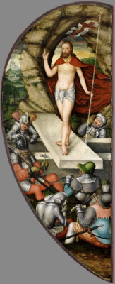 Lucas the Younger Cranach. The Altar Colditzer. Inside right fold: the Resurrection of Christ