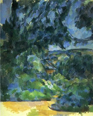 Paul Cezanne. Blue landscape