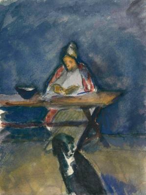 Константин Николаевич Истомин. За столом