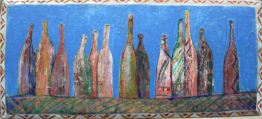 Овнан Саркисян. Натюрморт с бутылками