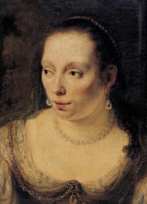 Фердинанд Балтасарс Боль. Портрет женщины с жемчужным ожерельем, вероятно Иоанны де Гир