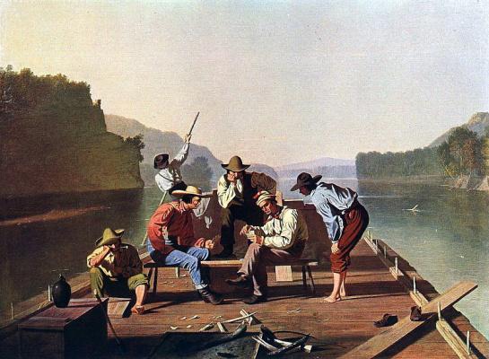 Джордж Калеб Бингем. Сплавщики играют в карты