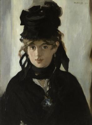 Portrait of Berthe Morisot with bouquet of violets