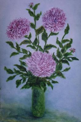 Rita Arkadievna Beckman. Pink chrysanthemum