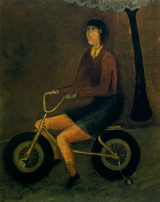 Энрике Бернад. На велосепеде