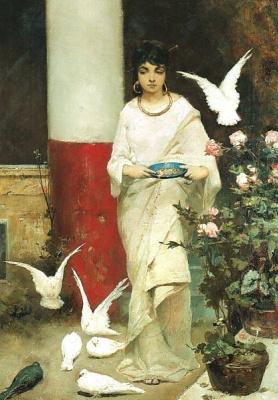 Вильгельм Александрович Котарбинский. Девушка с голубями