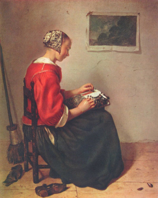 Caspar Necher. The Lacemaker